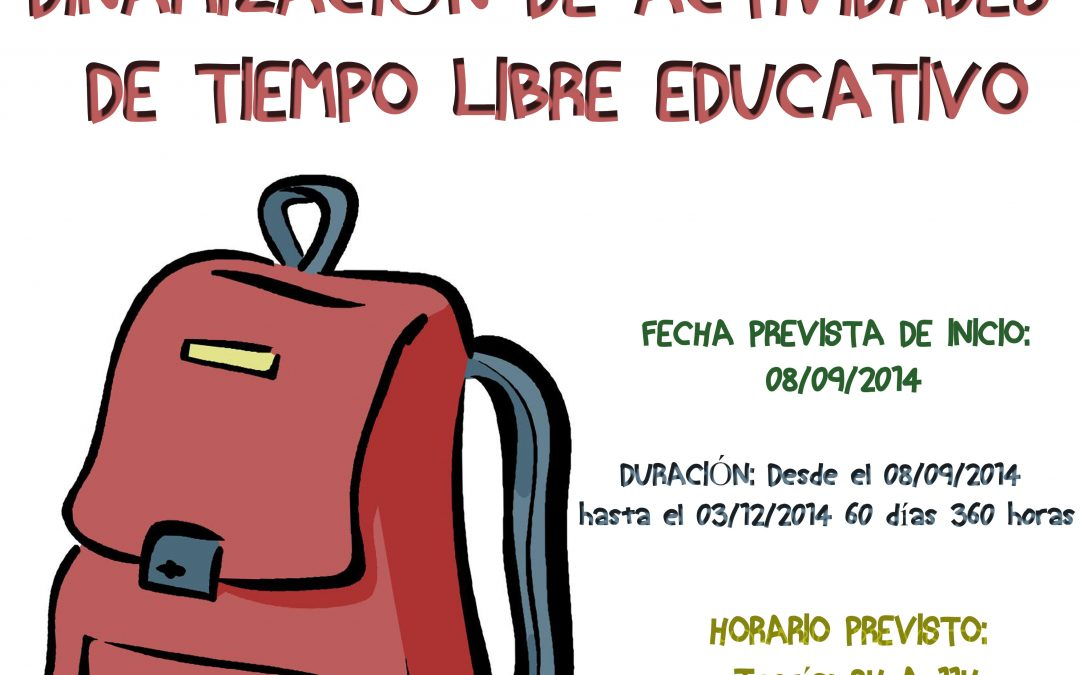 Curso de FPE en La Carlota 'Dinamización de actividades de tiempo libre educativo'