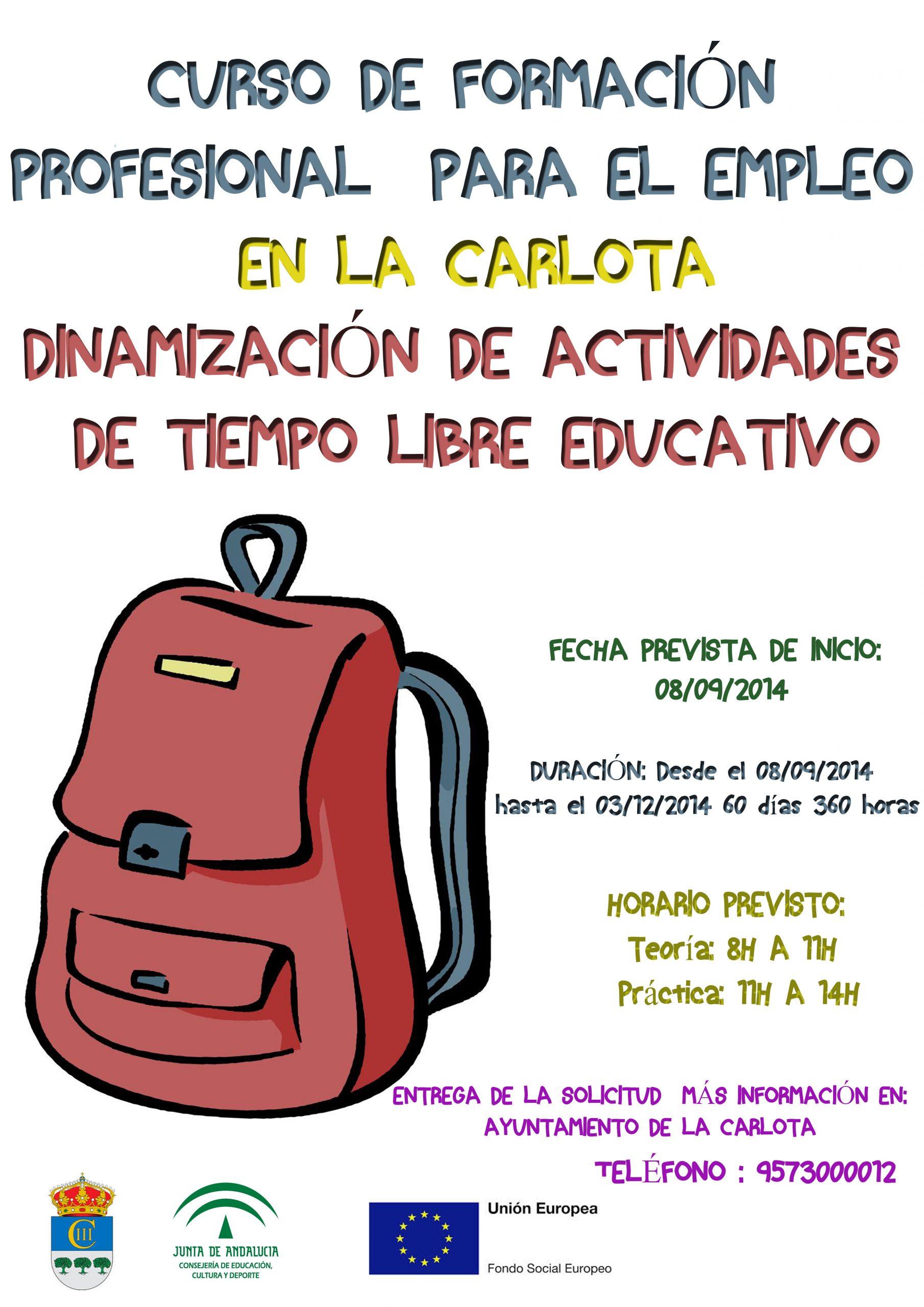 Curso de FPE en La Carlota 'Dinamización de actividades de tiempo libre educativo' 1