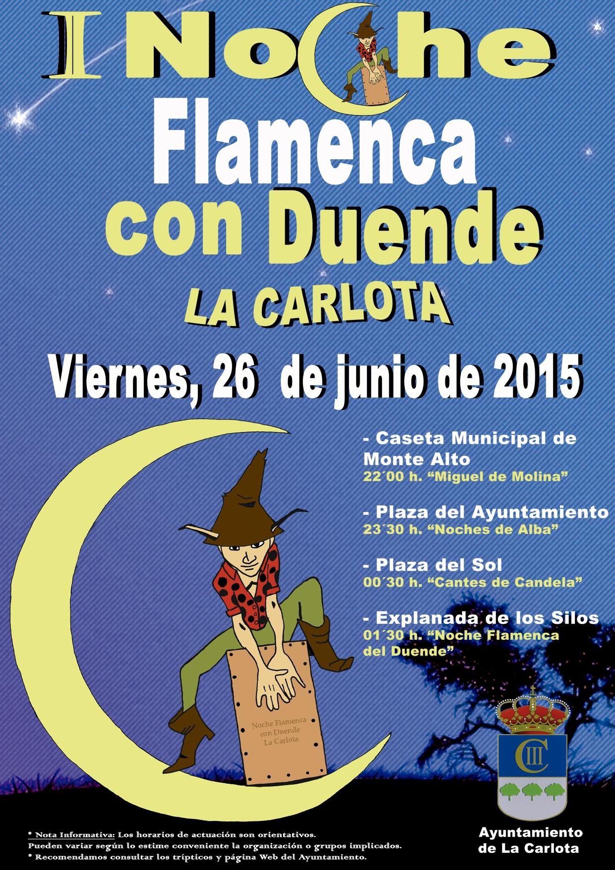 I Noche Flamenca con Duende de La Carlota 1