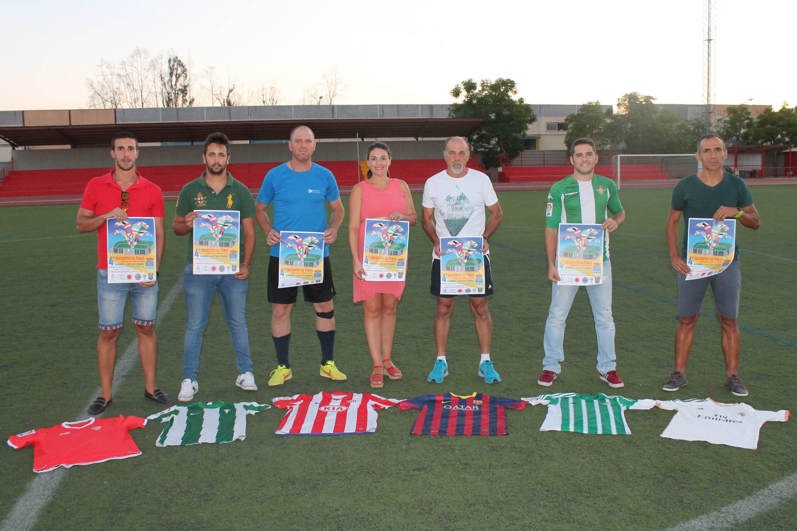 Las seis peñas de fútbol carloteñas se preparan para su IV Encuentro con motivo de la Feria 1
