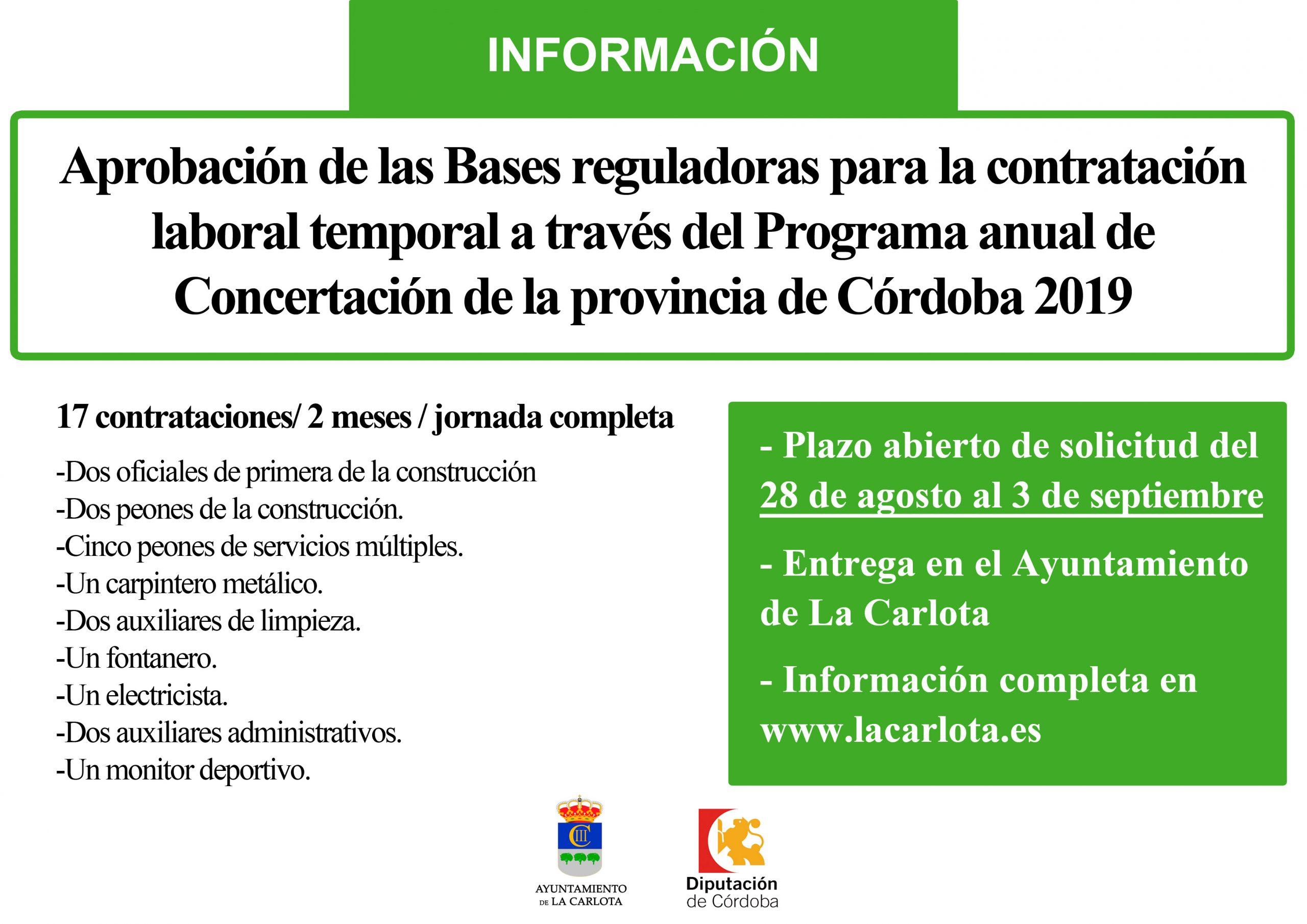 BASES REGULADORAS PARA CONTRATACIÓN DE EMPLEO DE LA CONCERTADA 2019 1