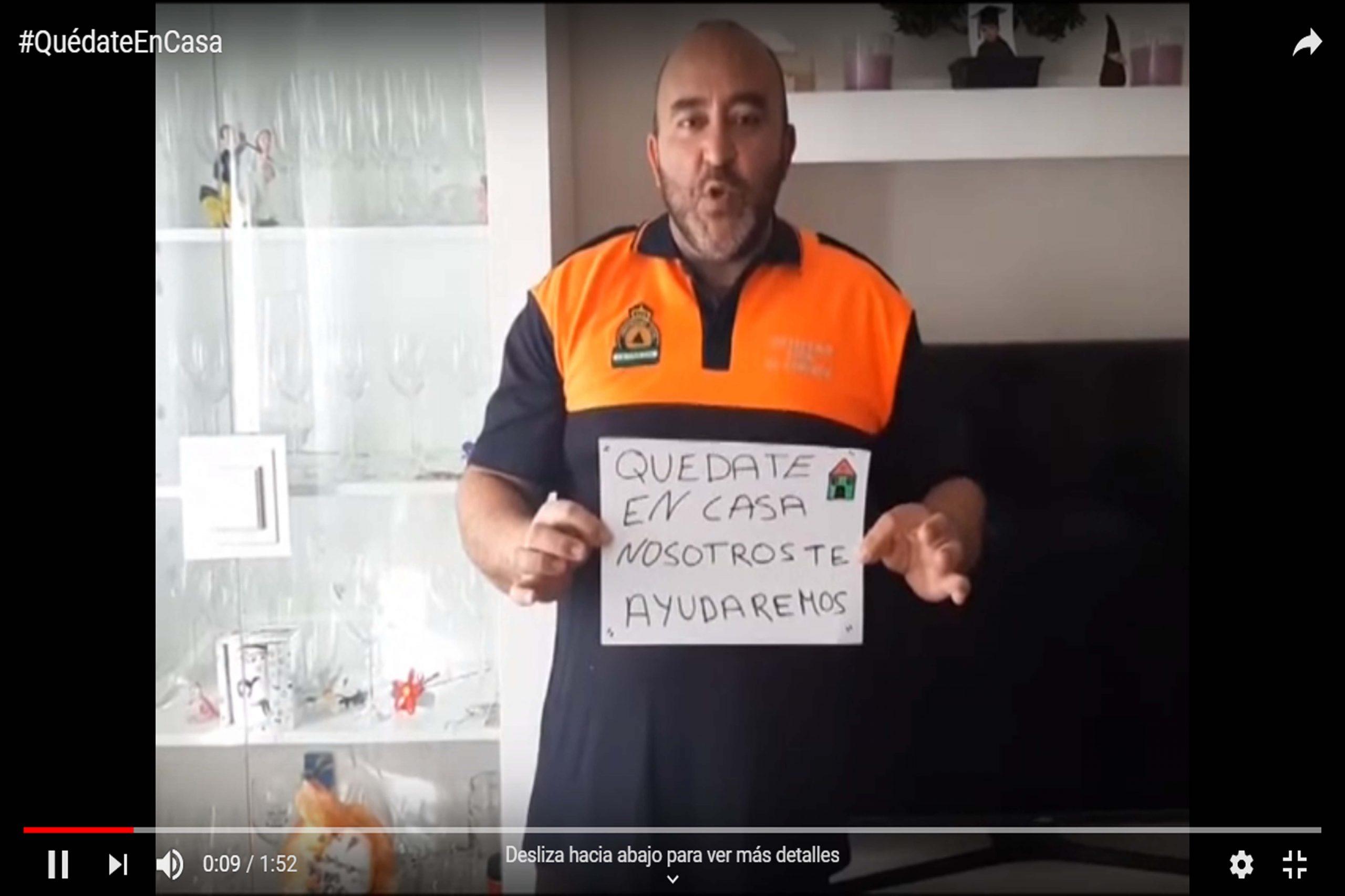 PROTECCIÓN CIVIL DE LA CARLOTA NOS DICE #QUÉDATEENCASA Y QUE ELLOS/AS ESTÁN AHÍ SI LOS/AS NECESITAS 1