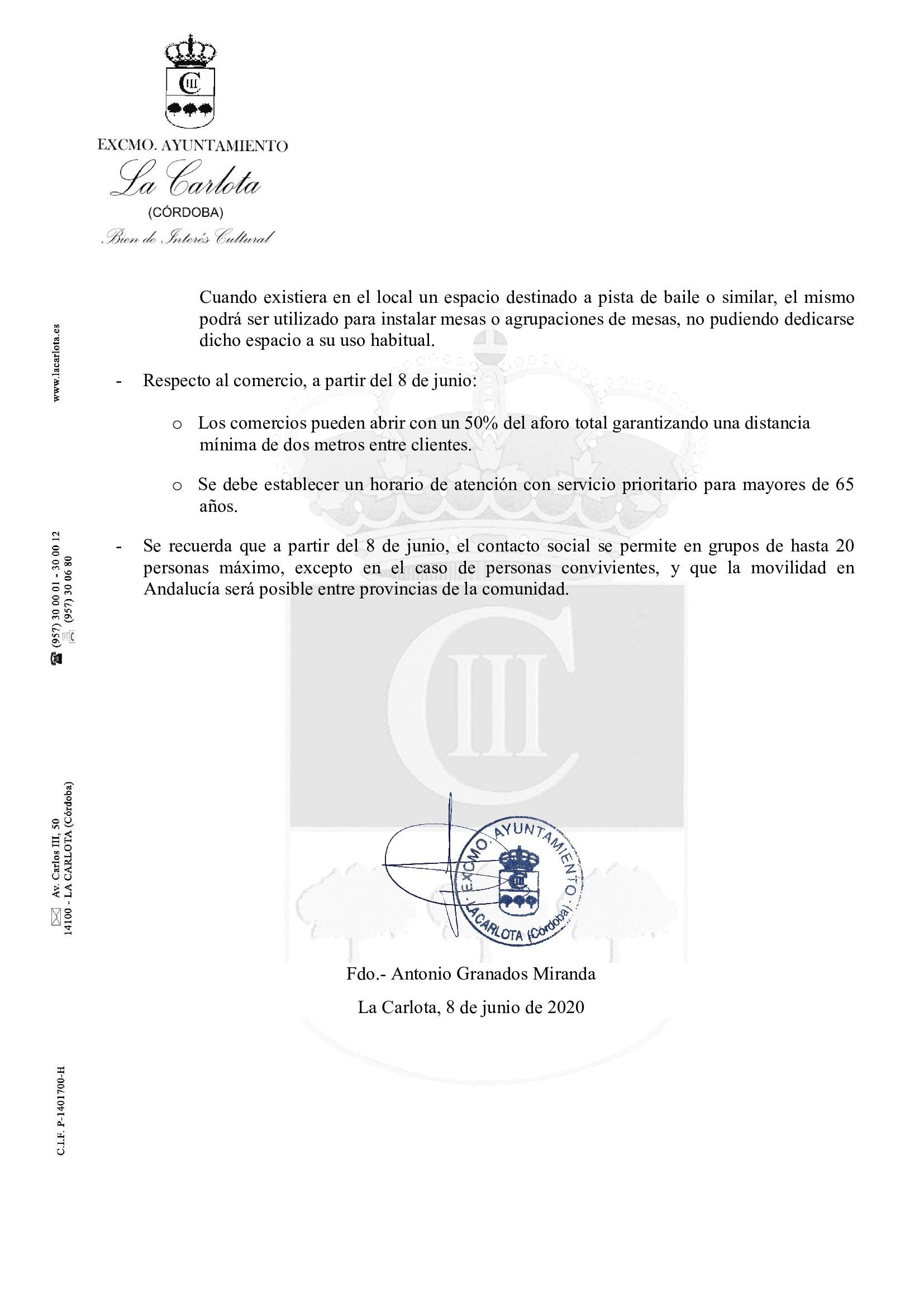 BANDO MUNICIPAL  ANTONIO GRANADOS MIRANDA ALCALDE – PRESIDENTE DEL  AYUNTAMIENTO DE LA CARLOTA 2