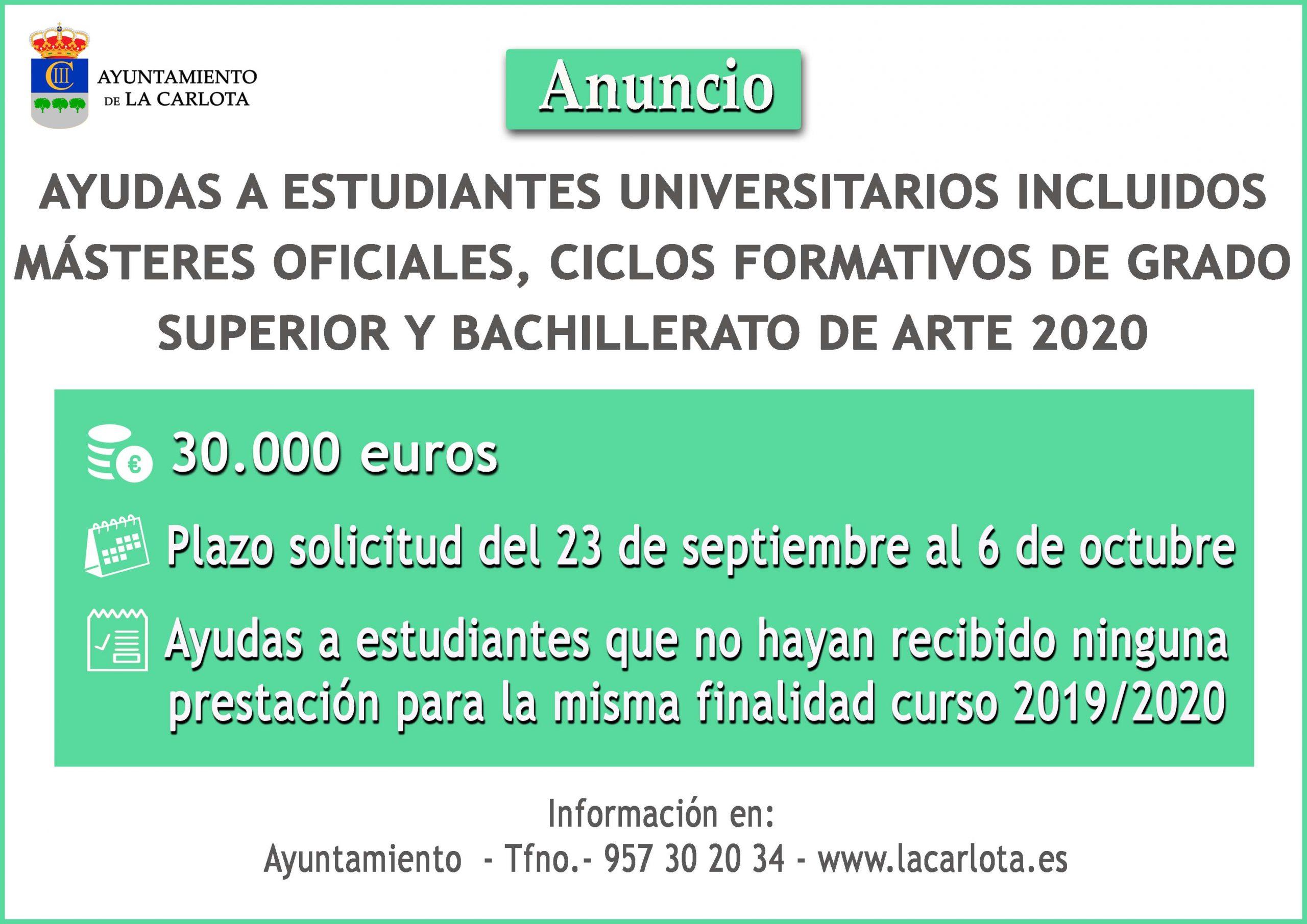 Información ayudas a estudiantes 2020 1