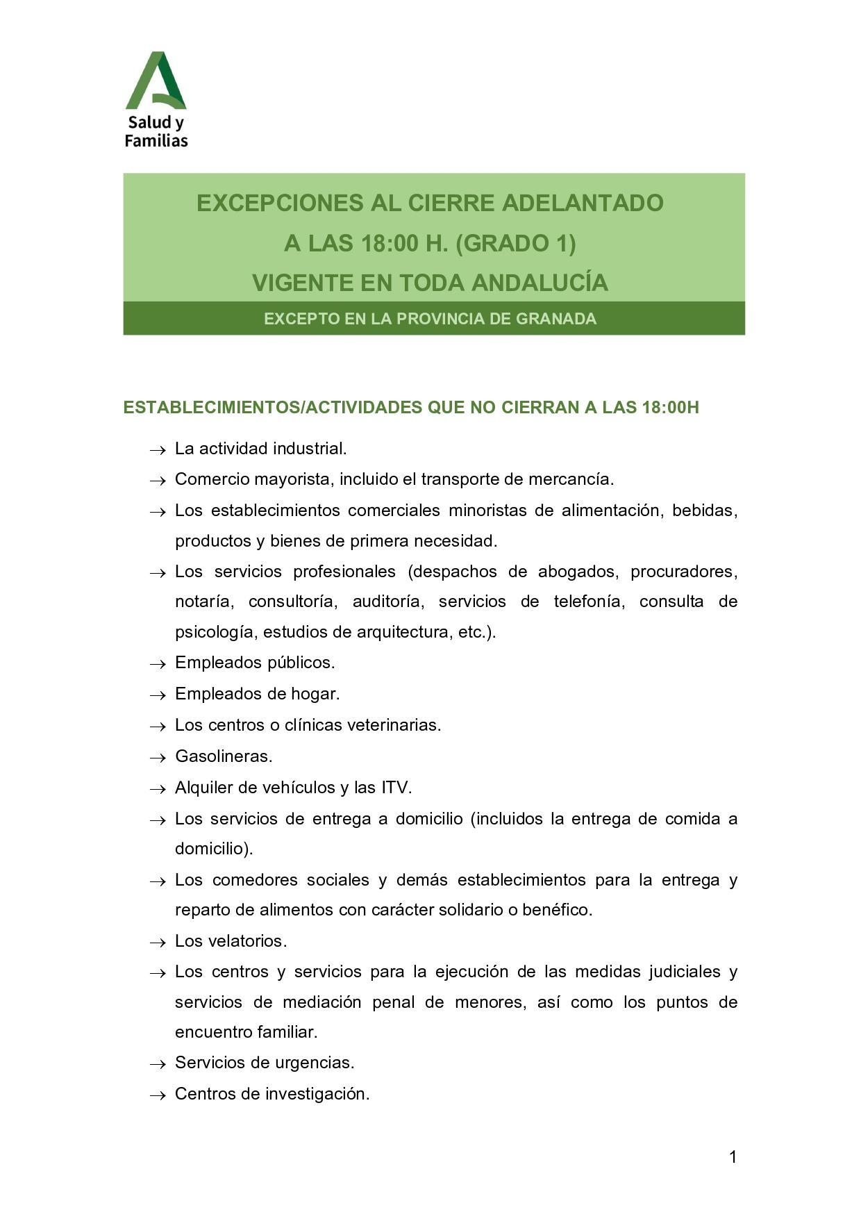 GUÍA DE ACLARACIONES Y PREGUNTAS SOBRE LAS NUEVAS MEDIDAS DE PREVENCIÓN DE COVID-19 EN ANDALUCÍA DESDE EL 10 DE NOVIEMBRE DE 2020  1