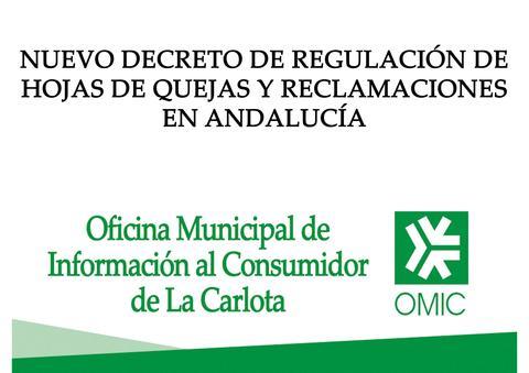 Nuevo decreto de regulación de hojas de quejas y reclamaciones de Andalucía