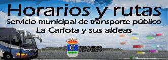 Enlace al servicio municipal del transporte público de La Carlota y sus aldeas