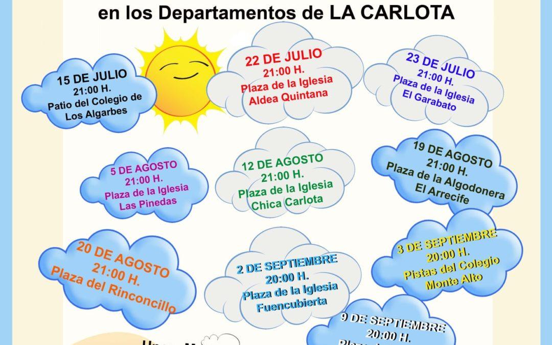 TALLERES DE CIRCO EN FAMILIA EN LOS DEPARTAMENTOS DE LA CARLOTA